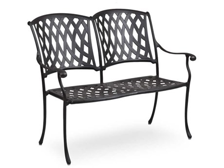 Palm Springs Rattan Cast Aluminum 7100 Series Bench