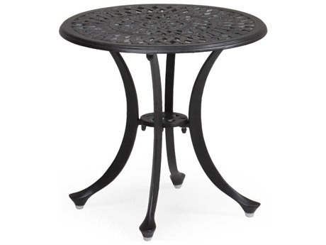 Palm Springs Rattan 7100 Series 19 x 20 Round Weathered Black Tea Table PS7120ET
