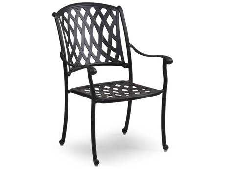 Palm Springs Rattan Cast Aluminum 7100 Series Dining Arm Chair