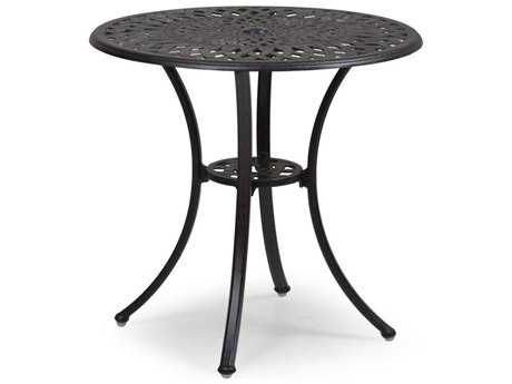 Palm Springs Rattan Cast Aluminum 7100 Series 28 x 30 Round Weathered Black Bistro Table