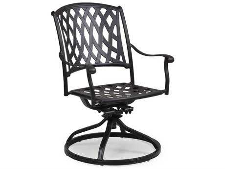 Palm Springs Rattan Cast Aluminum 7100 Series Swivel Tilt Dining Chair