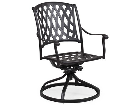Palm Springs Rattan Cast Aluminum 7100 Series Swivel Tilt Dining Chair PS7131