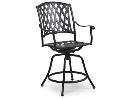 Palm Springs Rattan Cast Aluminum 7100 Series Swivel Counter Stool