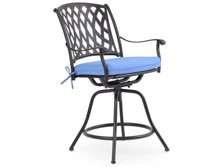 Palm Springs Rattan Cast Aluminum 7100 Series Swivel Counter Stool PS7144