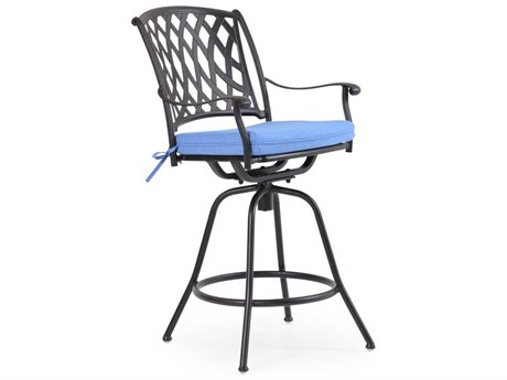 Palm Springs Rattan Cast Aluminum 7100 Series Swivel Bar Stool