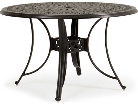 Palm Springs Rattan Dauphine Cast Aluminum 48''Wide Round Dining Table