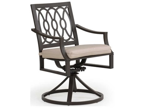 Palm Springs Rattan Camden Aluminum Cushion Swivel Dining Arm Chair