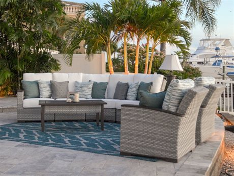 Palm Springs Rattan Adair Wicker Sectional Lounge Set