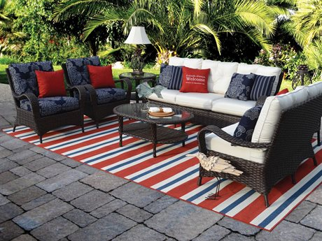 Palm Springs Rattan Alexandria Wicker Lounge Set