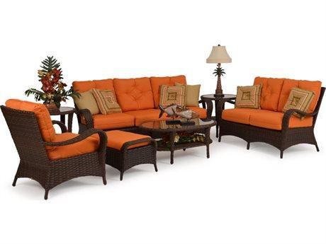 Palm Springs Rattan Alexandria Wicke Lounge Set