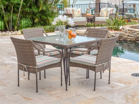 Palm Springs Rattan Augusta Wicker Dining Set