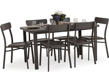 Palm Springs Rattan Avondale Aluminum Dining Set