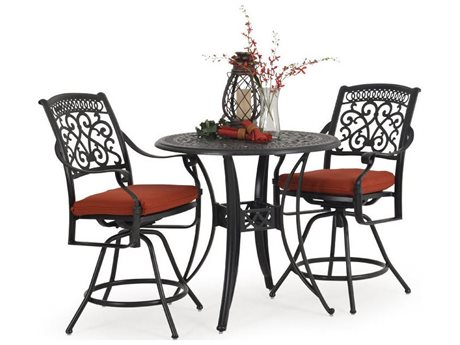 Palm Springs Rattan Dauphine Cast Aluminum Counter Set