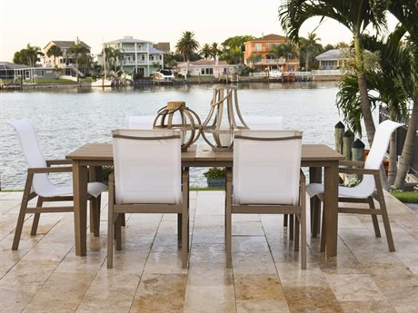 Palm Springs Rattan Miramar Teak Dining Set