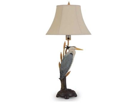 Palm Springs Rattan Outdoor Lighting Heron Table Lamp