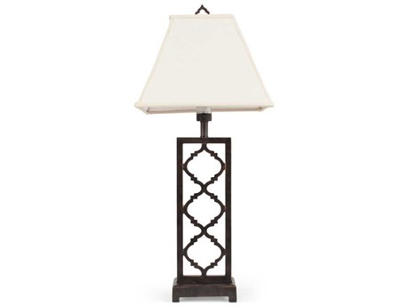 Palm Springs Rattan Outdoor Lighting Cast Style Floor Lamp
