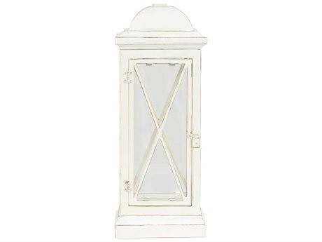 Palm Springs Rattan Outdoor Lighting Window Pane Table Lamp with Door