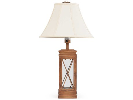 Palm Springs Rattan Outdoor Lighting Palm Tree & Cross Table Lamp with Door