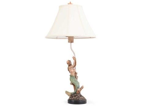 Palm Springs RattanOutdoor Lighting Mermaid Table Lamp