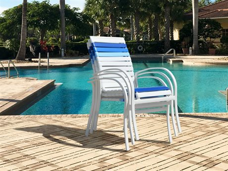 Palm Springs Rattan Pacifica Aluminum Dining Chair Set