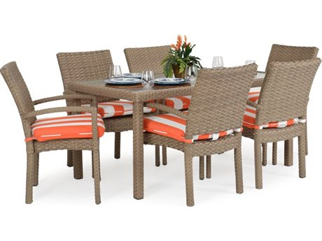 Palm Springs Rattan Seaside Wicker Dining Set