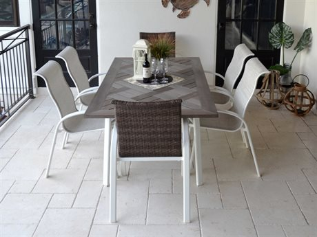 Palm Springs Rattan Sandoval Aluminum Dining Set