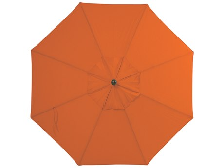 Palm Springs Rattan Aluminum 9 Market Umbrella Push Button Tilt Tuscan Olefin Venetian Gold