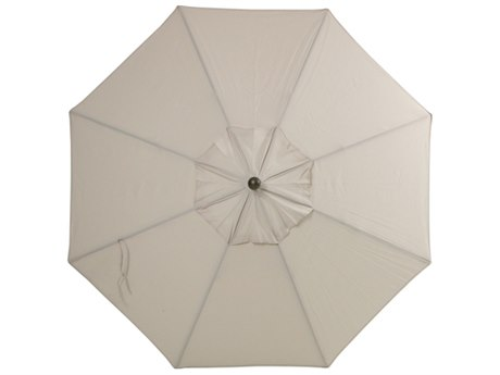 Palm Springs Rattan Aluminum 9 Market Umbrella Push Button Tilt Canvas Olefin Venetian Gold