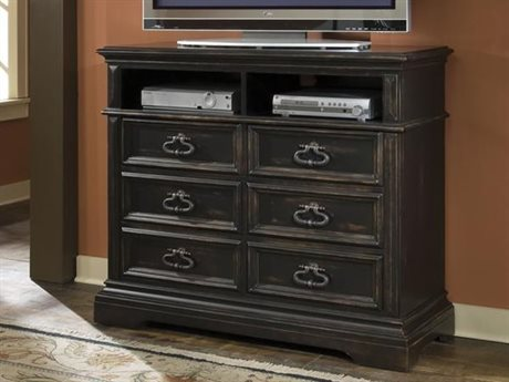 Pulaski Brookfield Black 48''W x 18''D Rectangular Media Chest