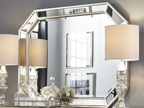 Pulaski Couture Silver 50''W x 40''H Oval Sideboard Mirror