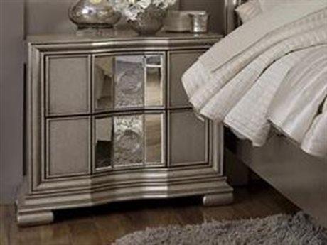 Pulaski Couture Silver 31''W x 19''D Rectangular Nightstand
