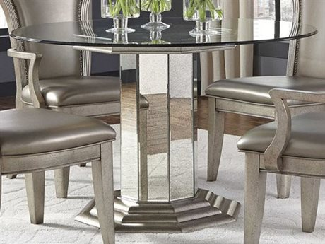 Pulaski Couture Silver 50u0027u0027 Round Pedestal Dining Table