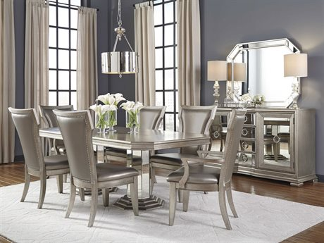 Pulaski Couture Silver Rectangular Table Dining Room Set