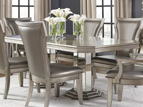 Pulaski Couture Silver 108''L x 42''W Rectangular Double Pedestal Dining Table