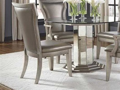 Pulaski Couture Silver Metallic Dining Side Chair (Sold in 2)