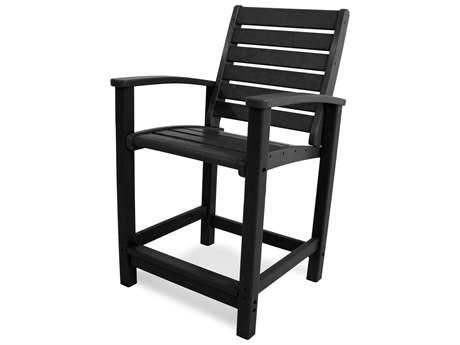 POLYWOOD® Signature Recycled Plastic Counter Chair