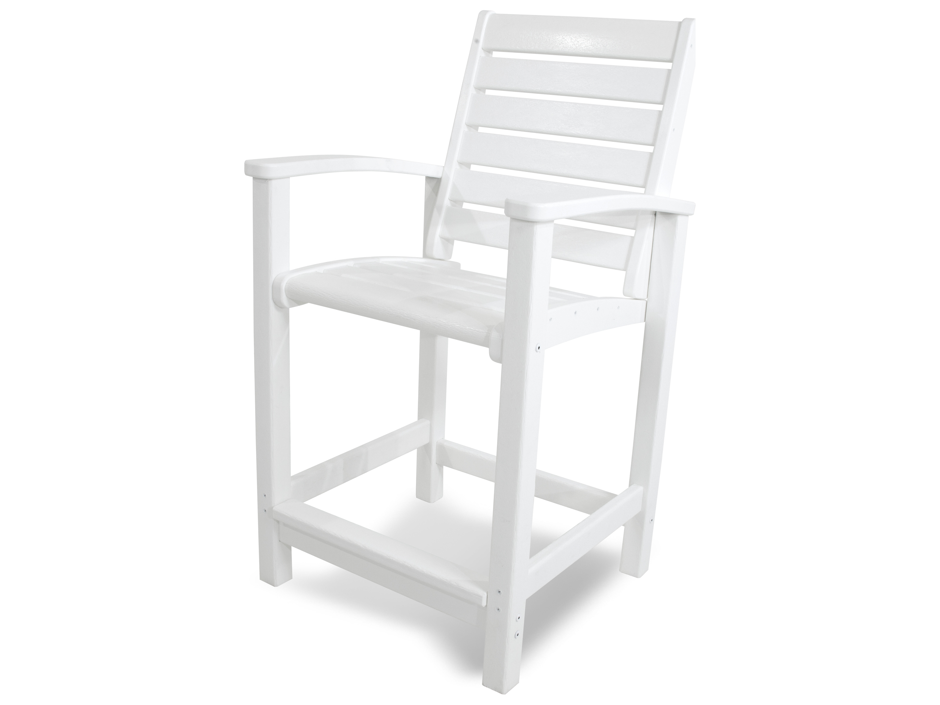 Polywood 174 Signature Recycled Plastic Counter Chair Pw1911