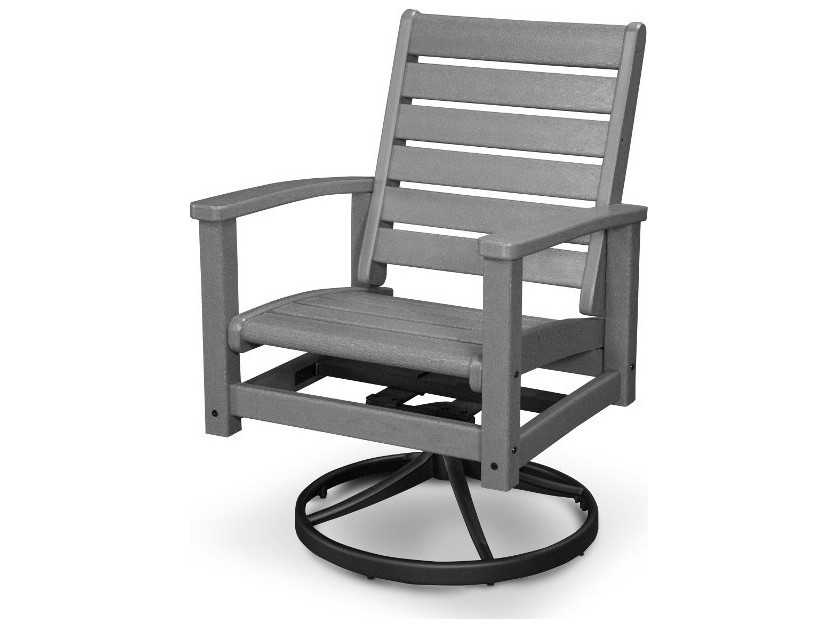Polywood 174 Signature Recycled Plastic Swivel Rocker Chair
