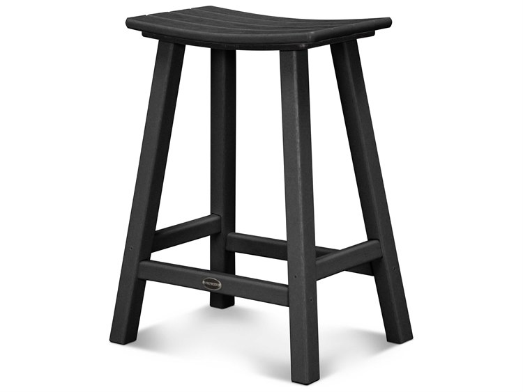POLYWOOD® Contempo Recycled Plastic 24'' Saddle Bar Stool