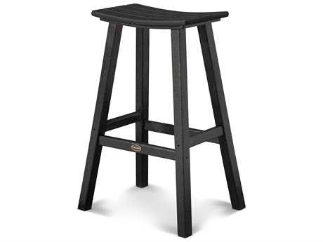 POLYWOOD® Contempo Recycled Plastic 29.75'' Saddle Bar Stool PatioLiving