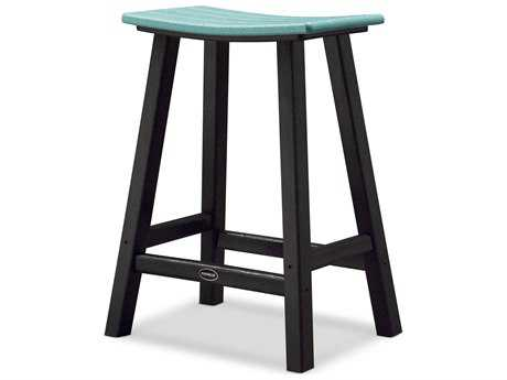 POLYWOOD® Contempo Recycled Plastic Saddle 24'' Bar Stool