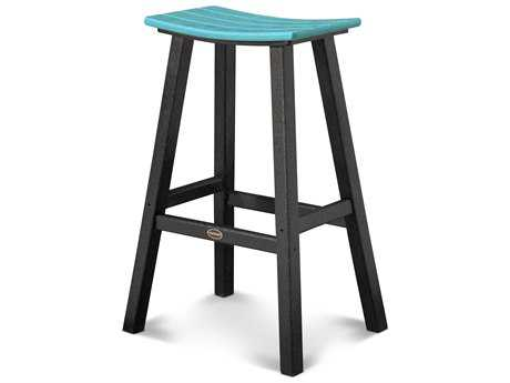 POLYWOOD® Contempo Recycled Plastic 29.75'' Saddle Bar Stool