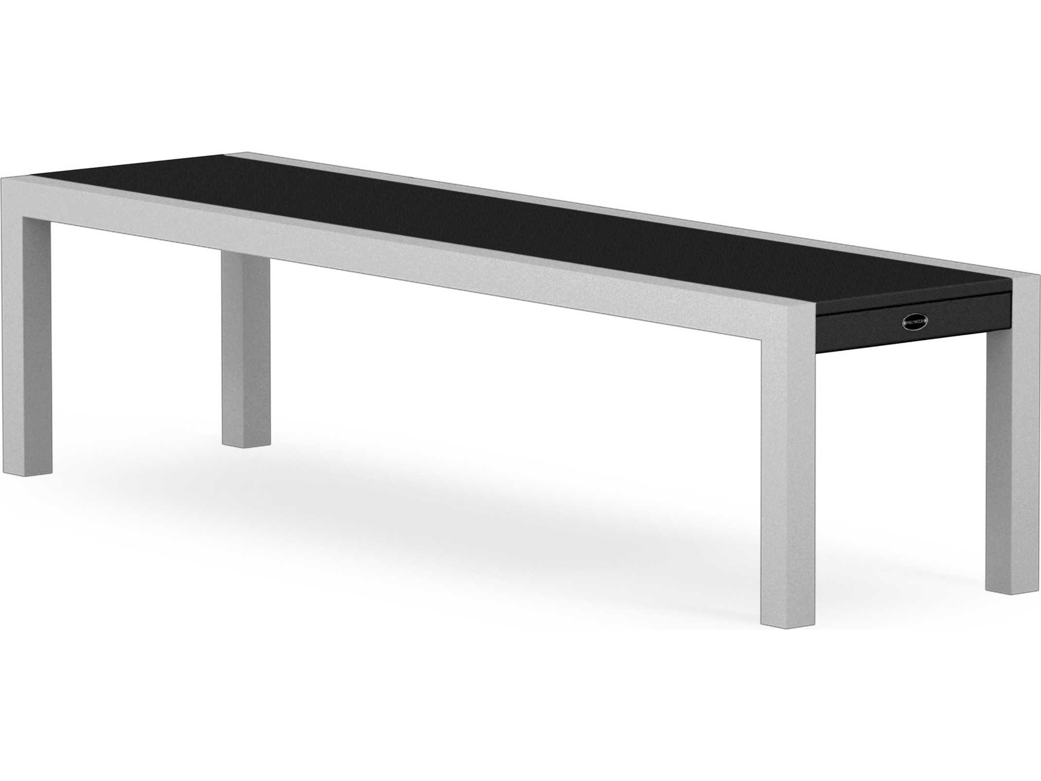 Brilliant Polywood Metro Aluminum Bench Gmtry Best Dining Table And Chair Ideas Images Gmtryco