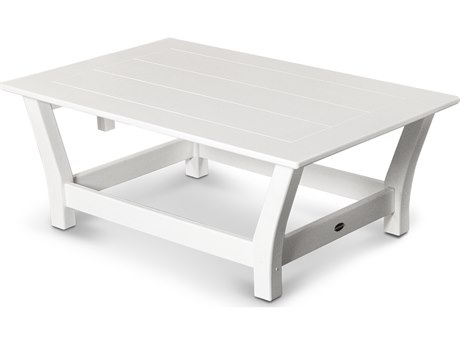 POLYWOOD® Harbour Recycled Plastic 45''W x 28''D Rectangular Coffee Table