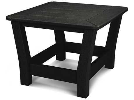 POLYWOOD® Harbour Recycled Plastic 23 Square Slat Side Table