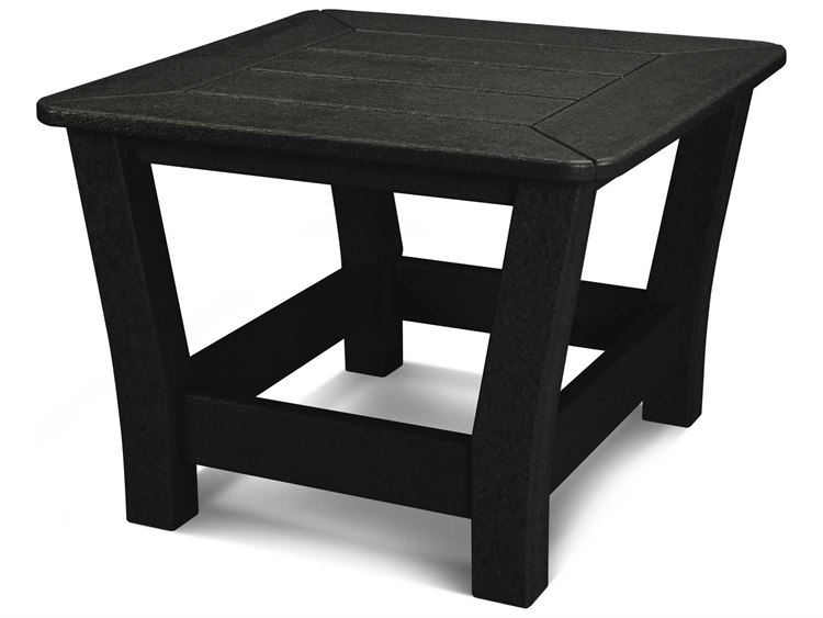 POLYWOOD® Harbour Recycled Plastic 23''Wide Square Slat Top End Table PatioLiving