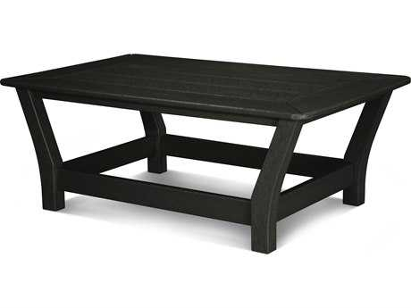POLYWOOD® Harbour Recycled Plastic 44 x 27 Rectangular Slat Coffee Table