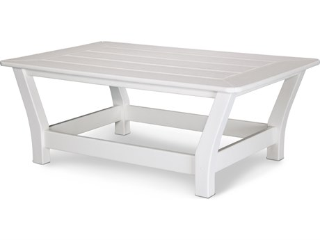 POLYWOOD® Harbour Recycled Plastic 44''W x 27''D Rectangular Slat Top Coffee Table