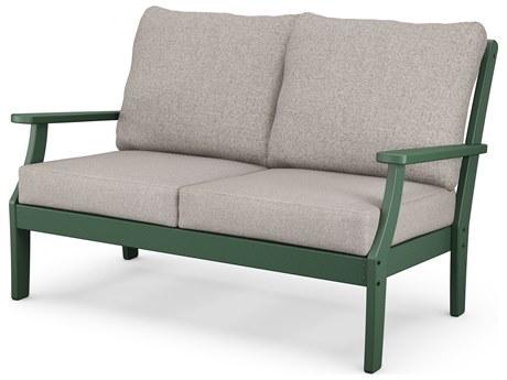 POLYWOOD® Braxton Recycled Plastic Cushion Loveseat