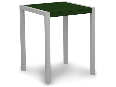 POLYWOOD® Mod Aluminum 30'' Wide Square Counter Table